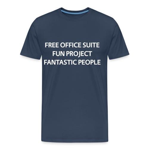 T Shirts White Text Front png - Men's Premium T-Shirt