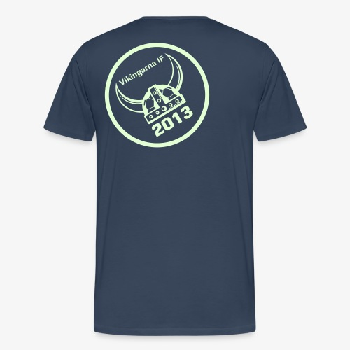 Vikingarna logo hvid - Herre premium T-shirt