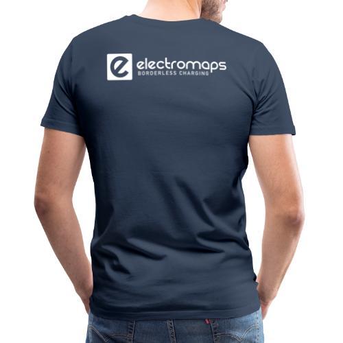 Electromaps logo white - Camiseta premium hombre