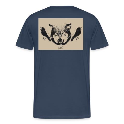 Wolf und Raben - Männer Premium T-Shirt