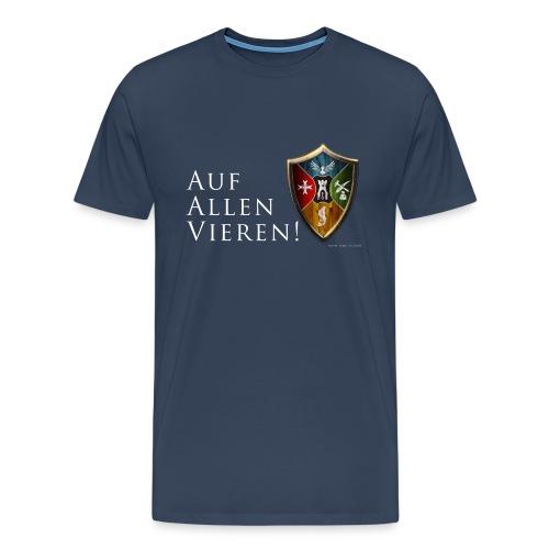 aufallenvieren - Männer Premium T-Shirt