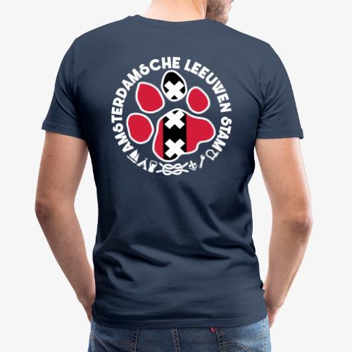 ALS witte rand donkershir - Mannen Premium T-shirt