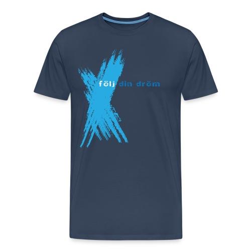 tshirt mixblue front mens png - Premium-T-shirt herr
