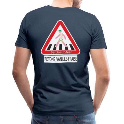 Berck-sur-mer: Piétons Vanille-Fraise - T-shirt Premium Homme