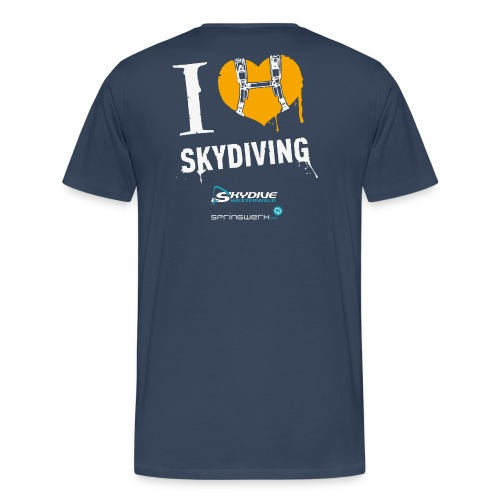 I heart Skydiving Pixel - Männer Premium T-Shirt
