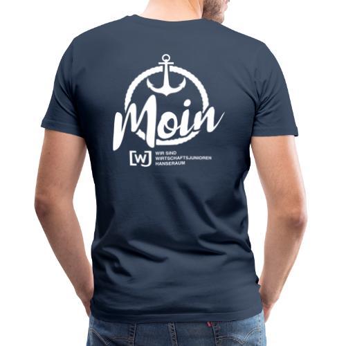 Moin Hanseraum weiß - Männer Premium T-Shirt
