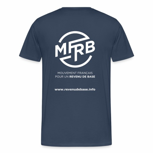 Logo MFRB blanc big png - T-shirt Premium Homme