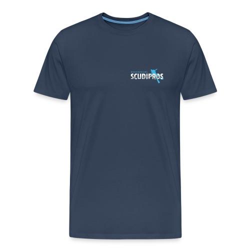 SDP Wit Lichtblauw ZA - Mannen Premium T-shirt