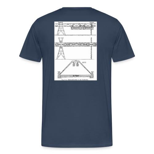 Schwebebahnskizze - Männer Premium T-Shirt