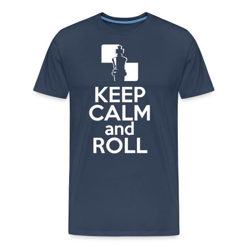 mi_KeepCalmAndRoll_CM_whi - Men's Premium T-Shirt
