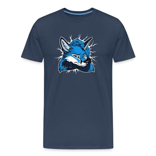 STUCK Blue Fox (front) - Männer Premium T-Shirt
