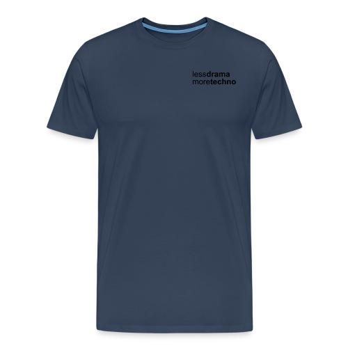 Less Drama nero png - Men's Premium T-Shirt