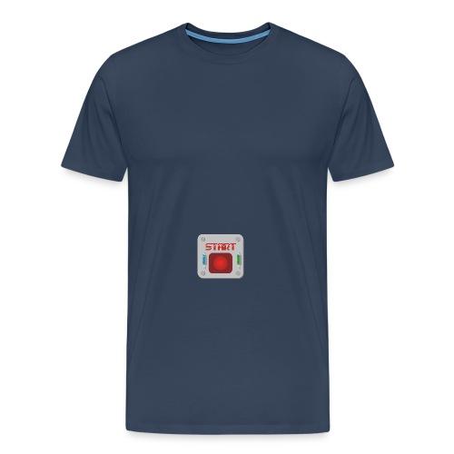 Startknopf - Männer Premium T-Shirt