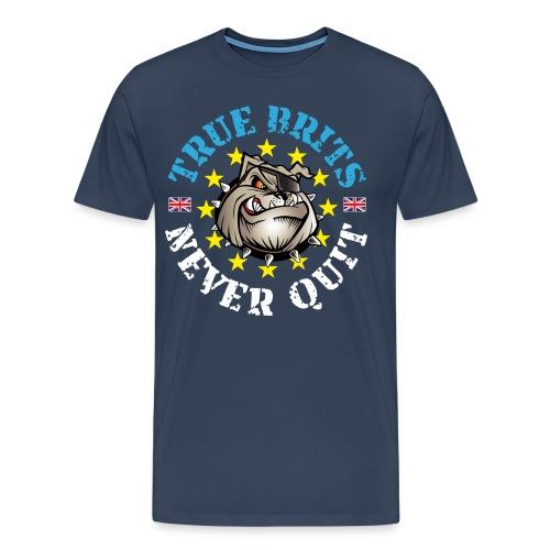 True Brits Never Quit Mens T'shirt - Men's Premium T-Shirt