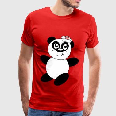 Panda fleur - Koszulka męska Premium