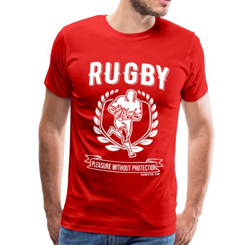 Rugby Pleasure (White) - Men's Premium T-Shirt