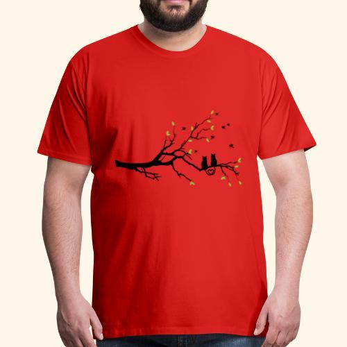 Zwei Katzen turteln auf dem Baum - Männer Premium T-Shirt
