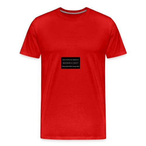 Math Problem - Men's Premium T-Shirt