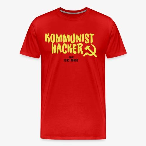 Kommunist Hacker ifølge Jens - Herre premium T-shirt
