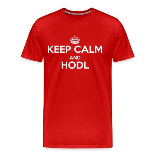 Keep Calm and HODL - Männer Premium T-Shirt