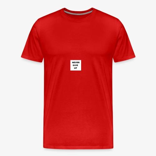 NEVER GIVE UP - Koszulka męska Premium