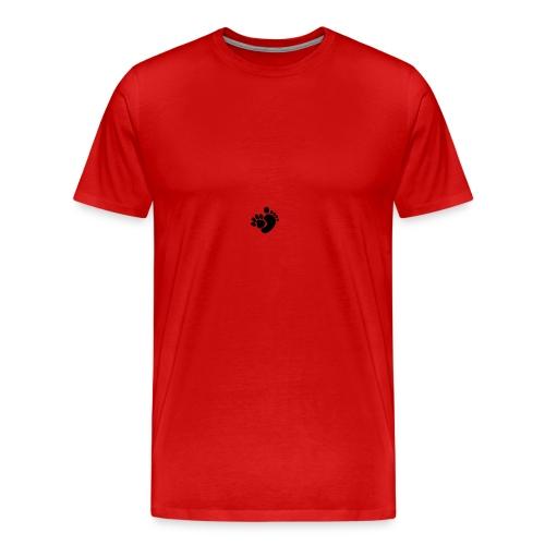 Logo hondenpootje - voet - Mannen Premium T-shirt
