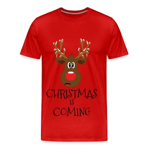 Christmas is coming - Premium T-skjorte for menn
