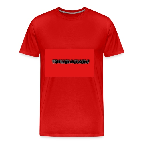 Trollblockable art - Men's Premium T-Shirt