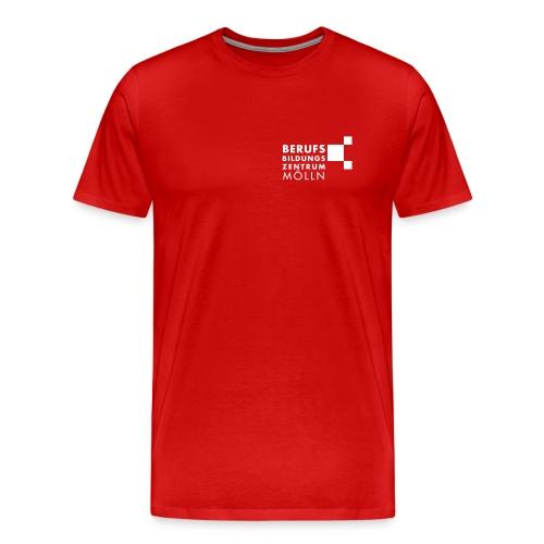 BBZ Logo weisse Schrift Schulkleidung.eps - Männer Premium T-Shirt