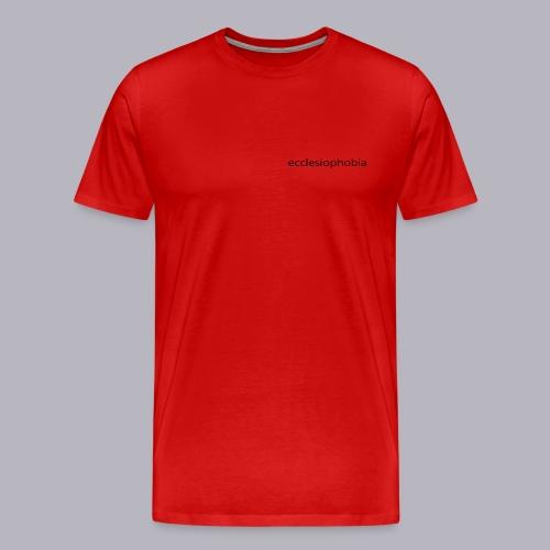 napis ecclesiophobia cienki czarny - Koszulka męska Premium