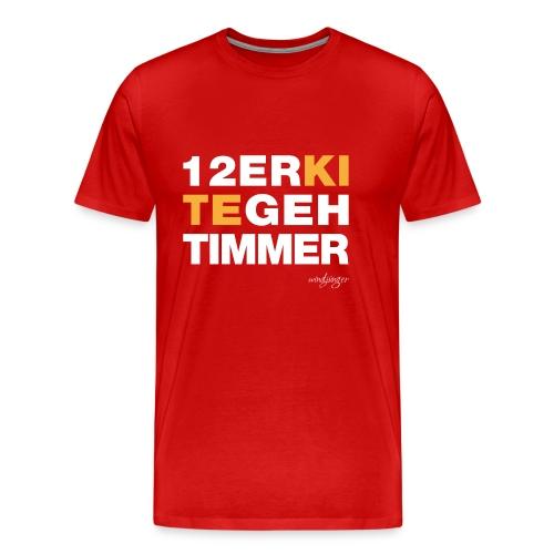 12er Kite geht immer - Männer Premium T-Shirt