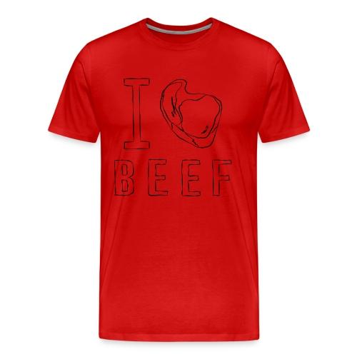 I LOVE BEEF - ICH LIEBE FLEISCH - Männer Premium T-Shirt