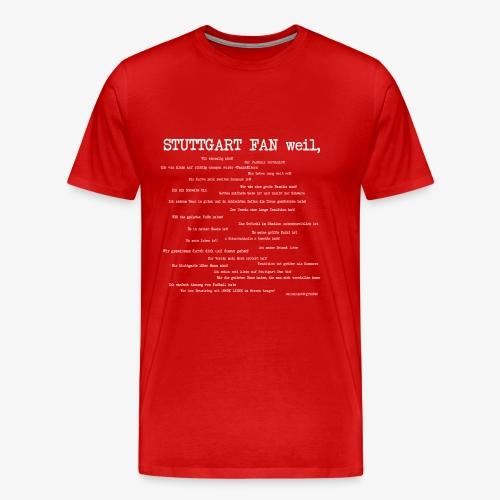 Stuttgart Community (weißer Aufdruck) - Männer Premium T-Shirt