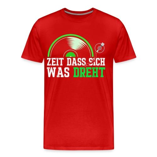 Zeit das sich was dreht - Retro Design - Männer Premium T-Shirt
