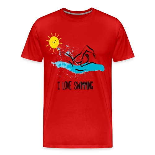 love swimming tchirt - T-shirt Premium Homme