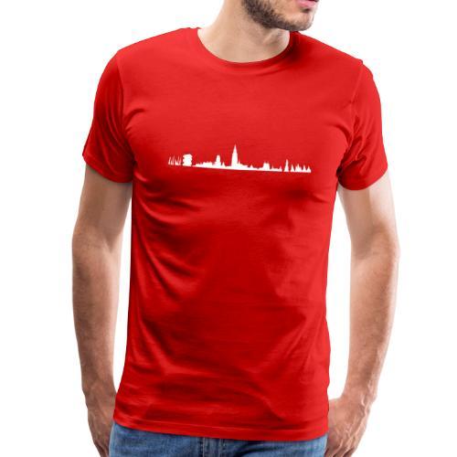 Antwerpen skyline - Mannen Premium T-shirt