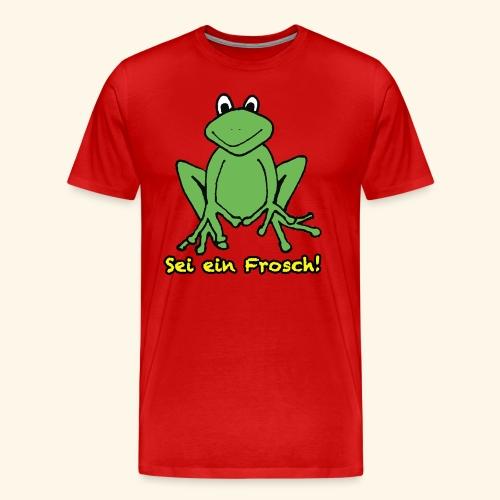 Ein kleiner grüner Frosch! - Männer Premium T-Shirt