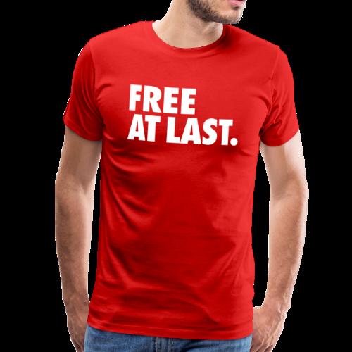 FREE AT LAST - Premium T-skjorte for menn
