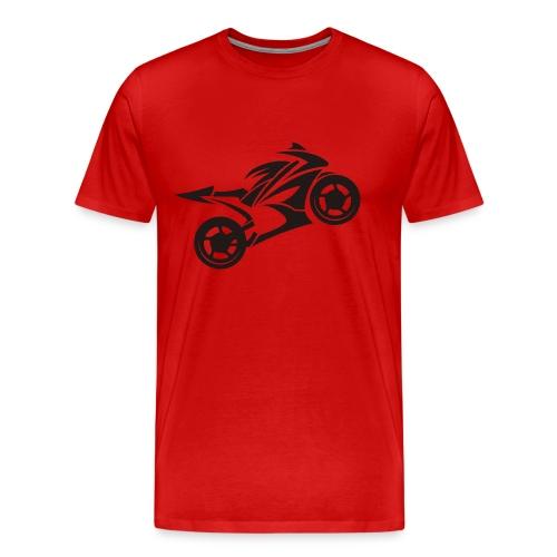 Motorcycle Wheelie - Männer Premium T-Shirt