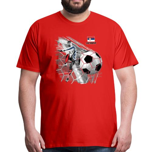 GP22F-12 SERBIA FOOTBALL - СРБИЈА ФООТБАЛЛ - Miesten premium t-paita