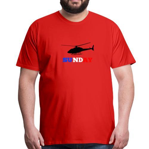 helicopter sunday - Men's Premium T-Shirt