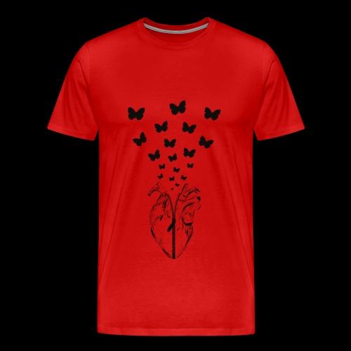 HEART BUTTERFLY - Maglietta Premium da uomo