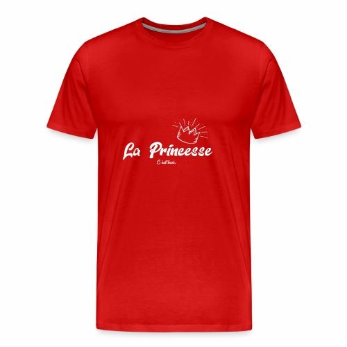 princesse couronne BLANC - T-shirt Premium Homme