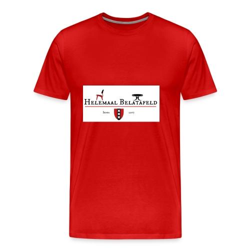 Helemaal Belatafeld - Mannen Premium T-shirt