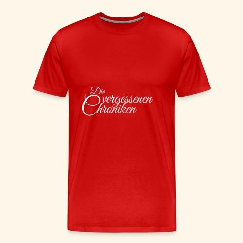 Die vergessenen Chroniken Logo (weiß) - Männer Premium T-Shirt