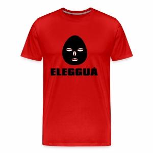 Eleggua gezicht met naam T42C - Mannen Premium T-shirt