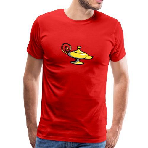 Wunderlampe Comic Flaschengeist Genie - Männer Premium T-Shirt