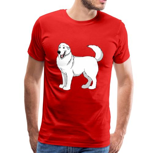 Loveable Pyrenean Mountain Dog - Men's Premium T-Shirt