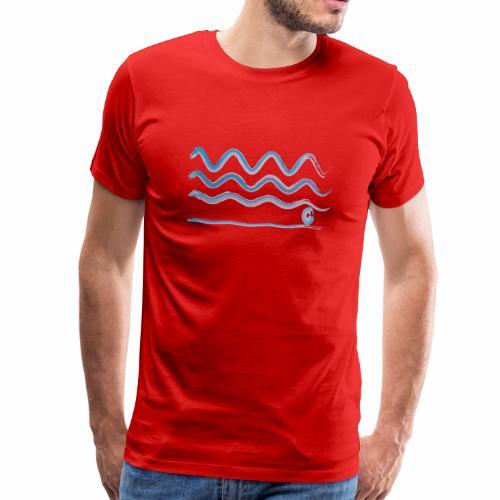 Ondas y punto - Camiseta premium hombre