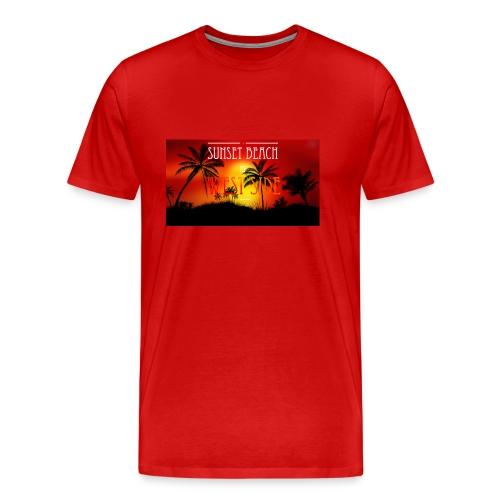 Sunset beach - Koszulka męska Premium